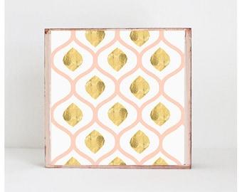 moroccan tile nursery decor, tribal nursery art nursery prints, pink boho copper nursery decor- kids playroom- safari print- redtilestudio