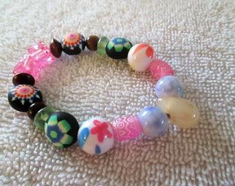Beaded bracelet, small, multi-color