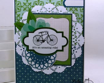 It's an Amazing Ride All Occasion Greeting Card Polly's Paper Studio Handmade