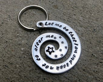 Shakespeare Much Ado about Nothing keychain - Hand Stamped Key chain