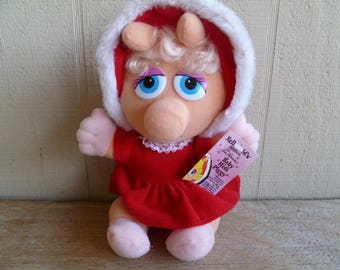Muppet Baby Miss Piggy McDonalds 1988 Plush with Tag