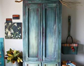 Morrocan Boho Inspired Vintage Armoire