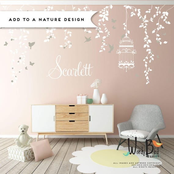 Baby Name Wall Decal For Nursery Gold Name Decal Gold Baby - Baby name wall decals