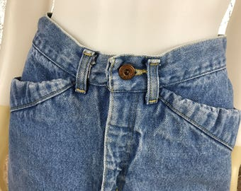 Vintage Denim 80's Skirt  M