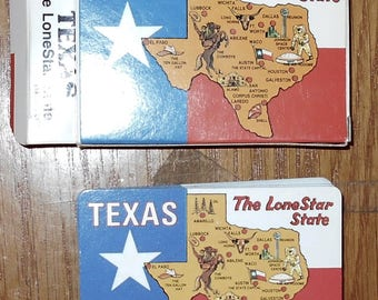 Plastic Coated Playing Cards - Texas - The Lone Star State - Playing Cards