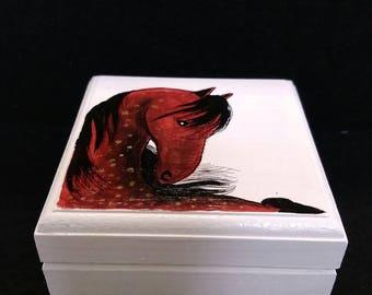 Handpainted small jewelry box
