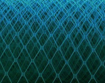 Clearance: Deep Teal  Turquoise Veil Netting -  Russian Netting
