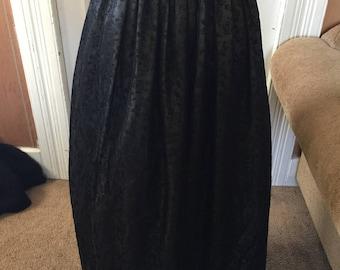 Floor length ballroom skirt