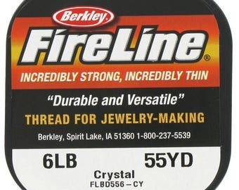 Berkley Fireline Beading Thread, 6 lb., 55 yards, white or black