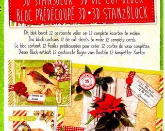 34674 block images 3d die cut vintage christmas