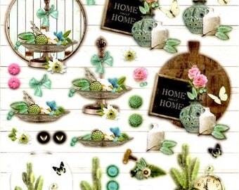131 - 1 leaf studio light images pre-cut botanical home