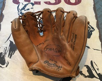 Vintage Stan Musial Rawlings TG98 Baseball Glove 1960-Stan Musial Trapeze Glove-St. Louis Cardinals