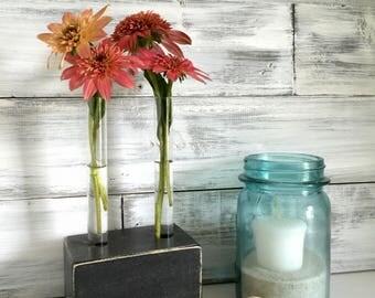 Test Tube Bud Vase, small Flower vase, rustic, small gift, gift for her