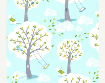 SALE 10% Off - Windy Day in Blue PS-5351 - BACKYARD Baby - Michael Miller Fabrics - By the Yard