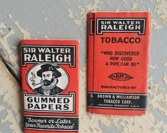 VINTAGE Sir Walter Raleigh Gummed Tobacco Paper - Tobacciana - Collectibles