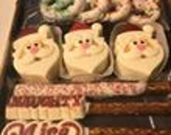 Chocolate Christmas Santa gift box