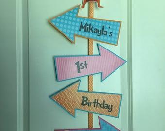 THE LORAX Birthday Party Door Sign - Dr. Seuss