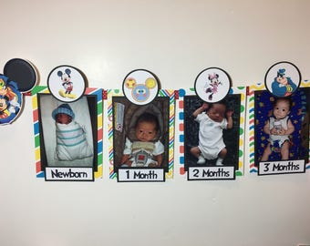 MICKEY MOUSE CLUBHOUSE Inspired Photo Timeline Birthday Banner