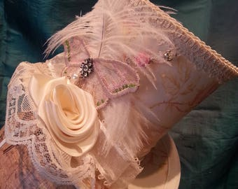 Shabby Chic, Mad Hatter, Tea Party, Wedding, Alice in Wonderland Mini Top Hat