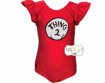 Thing 2 Leotard (Thing 1or 2 or 3)---Your Choice