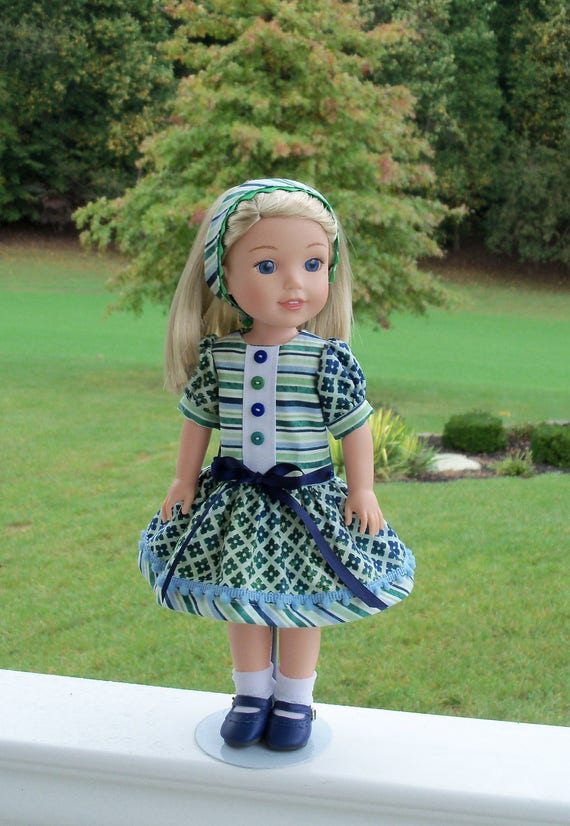"""14"""" Size/  Dress, Headband  and Shoes for American Girl Doll 14"""" Wellie Wishers®"""