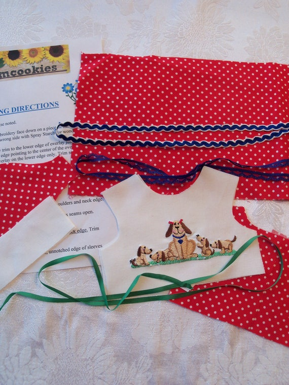 """18"""" Size/ Complete Sewing Kit to Make Embroidered Dress  for 18"""" American Girl Dolls"""