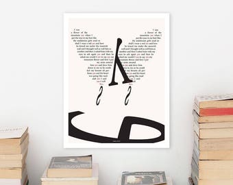 JAMES JOYCE Literary Art Print, Large Wall Art Posters, Literary Quote Poster, Illustration, Black and White Art, Literary Gift