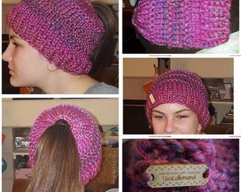 Ponytail or Messy Bun Hat