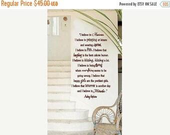 20% OFF Audrey Hepburn- Manicures- LARGE- Vinyl Lettering wall words quotes graphics decals Art Home decor itswritteninvinyl