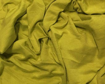 Bamboo Cotton Lycra Jersey Knit Fabric Eco-Friendly 4ways spandex - Lime