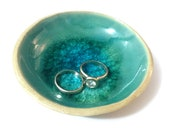 Reserved to Celes Miller - Ring Holder, Mediterranean Sea Dreams Collection, Ring Holder Dish, Ring Dish, Turquoise Ceramics, Ceramic Bowl