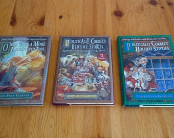 Lot of 3 Vintage 1994 books Politically Correct Bedtime Stories w Dust Jackets