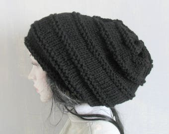 Crochet Knitted dreadlock hat beanie slouchy slouch hat dreadlock dread hat tam dreadies extra slouchy extra large mens slouchy hats