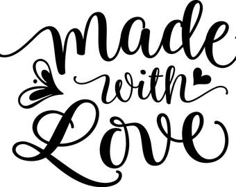 Made with Love Vinyl Decal Sticker
