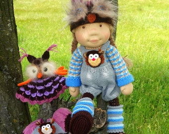 "Waldorf knitted doll Villena 19"""