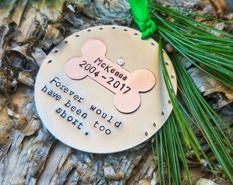 Dog Memorial Christmas Ornament - Pet Memorial Ornament - Pet Christmas Ornament - Dog Rememberance Ornament - Pet Ornament - Dog