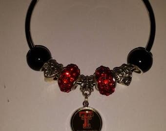 Texas Tech bangle bracelet