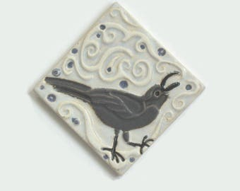 Raven 4x4 Arts and Crafts MUD Pi Decorative Handmade Ceramic tile