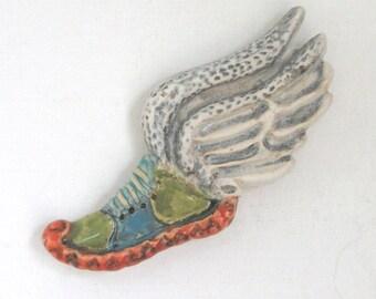 Cross Country Running Ceramic MUD Pi Magnet