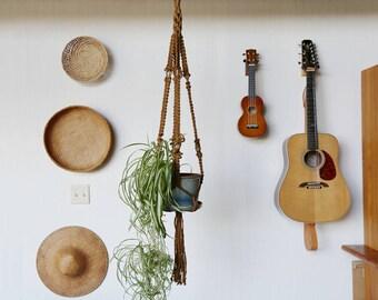 Macrame Plant Hanger // Handmade, Jute and Ceramic Beads
