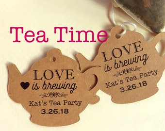 Tea Party Custom Tags