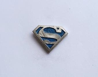 Hand Cast Pewter Pick your color Superman 1 inch Lapel Pin