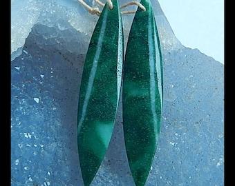 Fashion,African jade,New gemstone earring bead,49x10x3mm,5.0g(E1071)