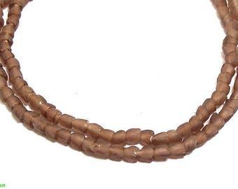 Purple Krobo Powder Glass Beads Ghana African 47333