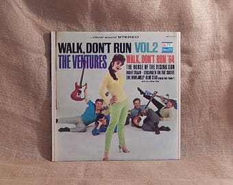 THE VENTURES - Walk Don't Run Vol. 2 - 1964 Vintage Vinyl Record Album
