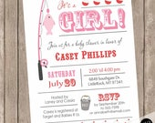 Fishing Baby Shower Invitation, Fishing Theme Baby Shower, Fishing Pole  Invitation, Fish Baby Shower Invitation, Girl,