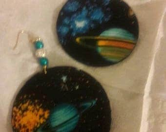 Galaxy  Queen earrings