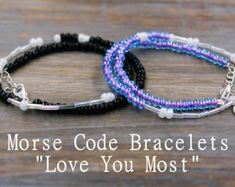 Love You Most Couples Jewelry, Couples Bracelets, His and Hers Gifts, His and Hers Bracelets Distance Relationship Jewelry Distance Bracelet