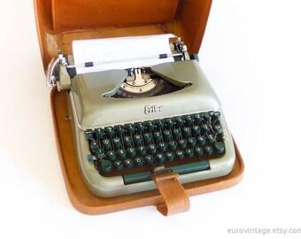 Vintage Green Typewriter Working Typewriter Erika Germany 50s