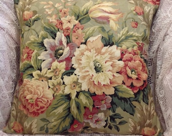 Summer pillow covers Beautiful Roses Peonies and other cottage flowers